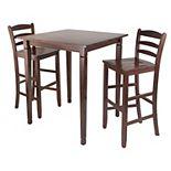 Winsome Kingsgate 3-pc. Pub Dining Table Set