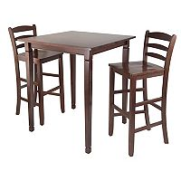 Winsome Kingsgate 3 pc Pub Dining Table Set