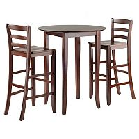 Winsome Fiona 3 pc Round Table Set