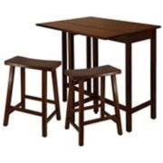 Winsome Lynnwood 3-pc. Saddle Stool Dining Set