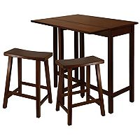 Winsome Lynnwood 3 pc Saddle Stool Dining Set