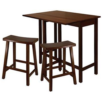 Winsome Lynnwood 3-pc. Saddle Stool Dining Set