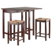 Winsome Lynnwood 3-pc. Rush Stool Dining Set