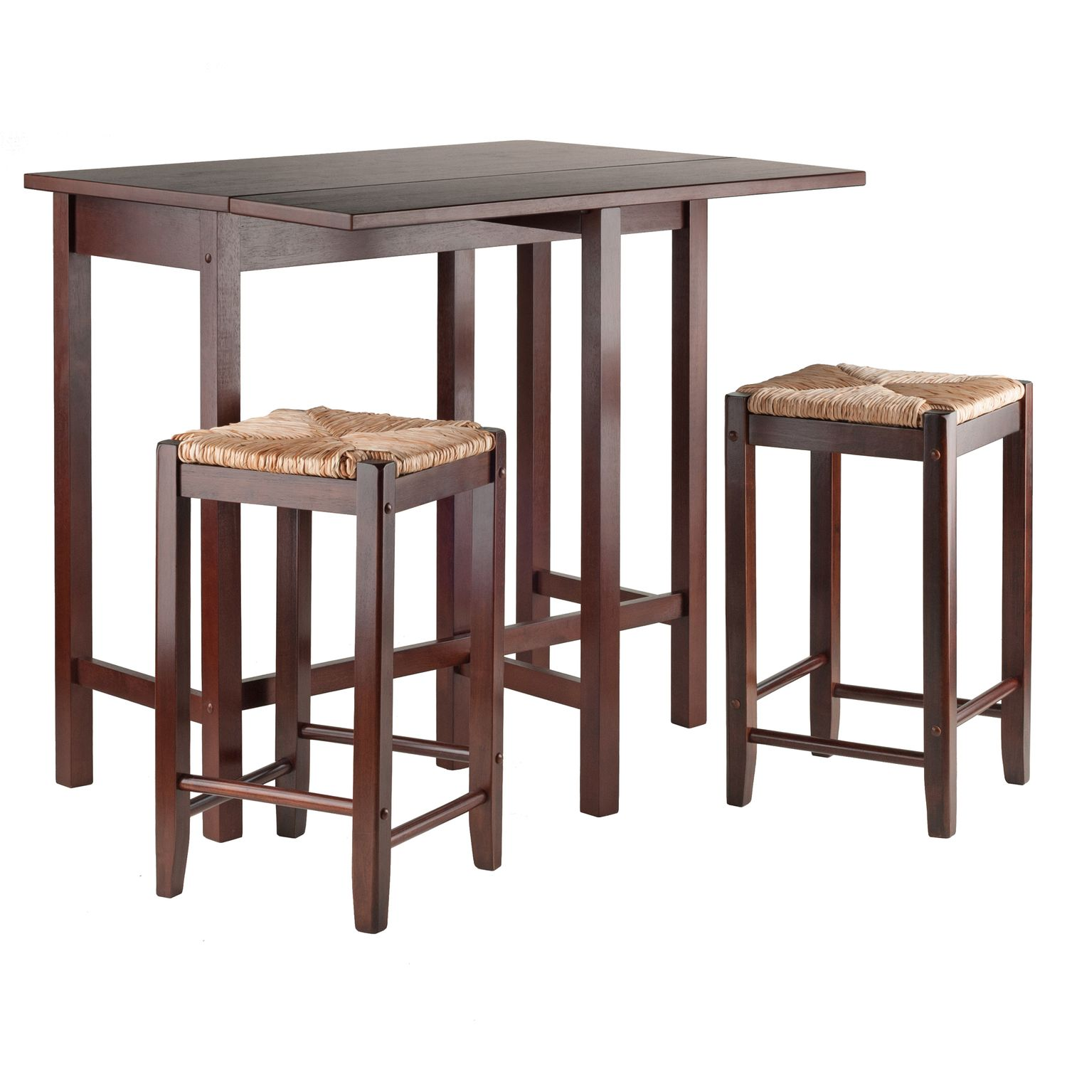 Winsome Lynnwood 3 Pc. Rush Stool Dining Set