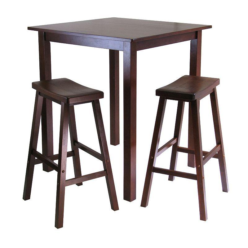 Winsome Parkland 3-pc. Saddle Seat Table Set, Brown, Furniture
