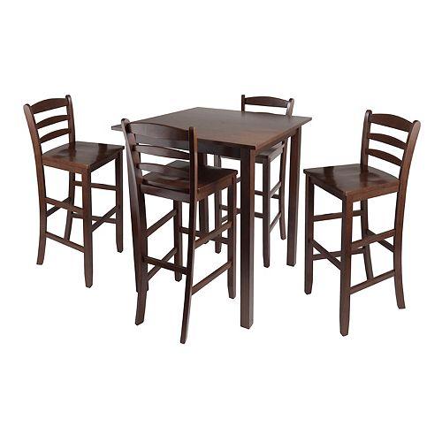 Pc Square Pub Table Set: Winsome Parkland 5-pc. Pub Table Set