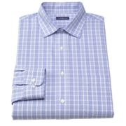 Croft and Barrow Classic-Fit Plaid Non-Iron Spread-Collar Dress Shirt