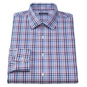 Croft and Barrow Classic-Fit Checked Non-Iron Spread-Collar Dress Shirt