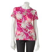 Croft and Barrow Floral Tee - Petite