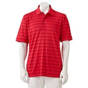 Grand Slam Striped Performance Polo - Big and Tall
