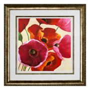 Intercontinental Art, Inc. Tall Poppies I Framed Wall Art