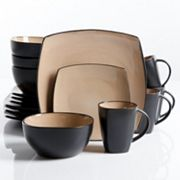 Gibson Everyday Soho Lounge 16 pc Square Dinnerware Set