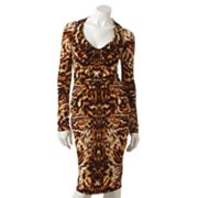 Jennifer Lopez Cheetah Embellished Dress
