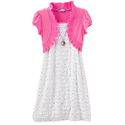 Speechless Mock-Layer Eyelash Dress - Girls 7-16