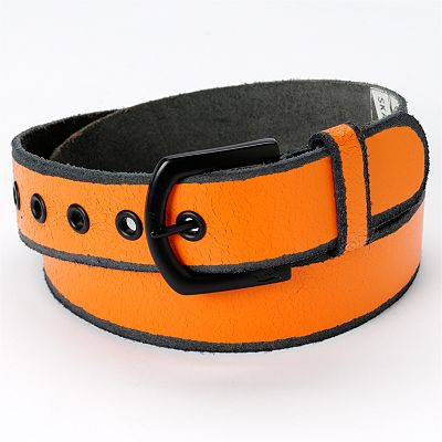 Tony Hawk Orange Leather Belt