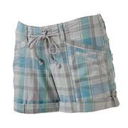 Unionbay Plaid Cuffed Shortie Shorts - Juniors