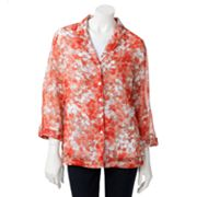 Cathy Daniels Floral Shirt Set