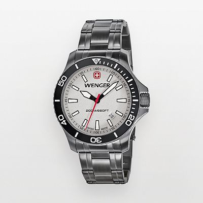 Wenger Sea Force Stainless Steel Gunmetal Ion Dive Watch - 0641.107 - Men