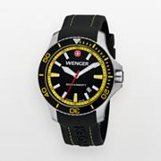 Wenger Sea Force Stainless Steel Silicone Dive Watch - 0641.101 - Men