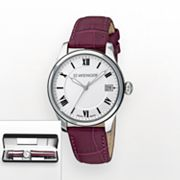 Wenger Terragraph Stainless Steel Leather Watch Set - 60.0521.103 - Women