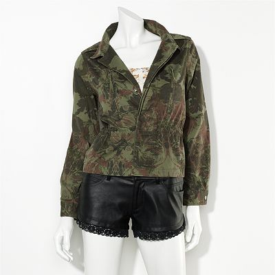 Princess Vera Wang Camouflage Jacket - Juniors'