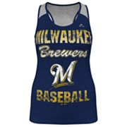 Majestic Milwaukee Brewers Ladies Champ Racerback Tank - Women