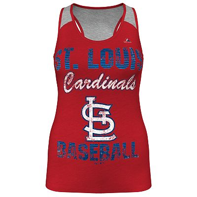Majestic St. Louis Cardinals Ladies Champ Racerback Tank - Women