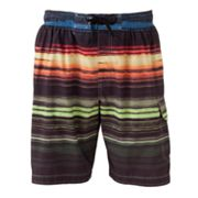 SONOMA life + style Multi-Striped Swim Trunks