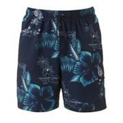 Croft and Barrow Island Hibiscus Swim Trunks