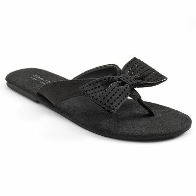 SONOMA life and style Cut-Out Bow Flip-flops