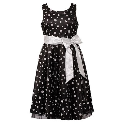 Emily West Glitter Polka-Dot Dress - Girls 7-16