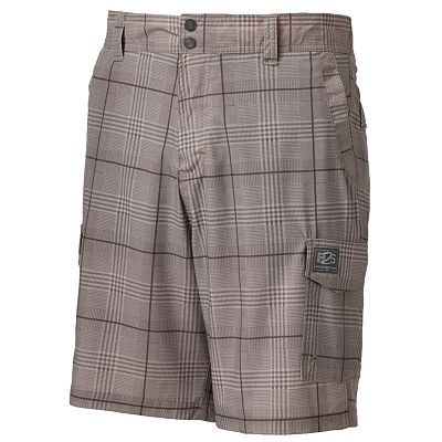 ZeroXposur Raven Plaid Beach 2 Street Hybrid Board Shorts