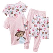 Carter's Dancing Monkey Polka-Dot Pajama Set - Toddler