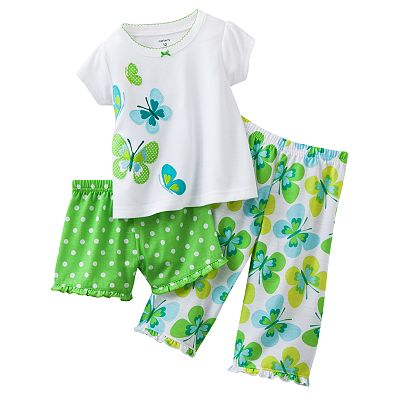 Carter's Butterfly Pajama Set - Baby