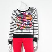 Princess Vera Wang Striped Floral Sweatshirt - Juniors
