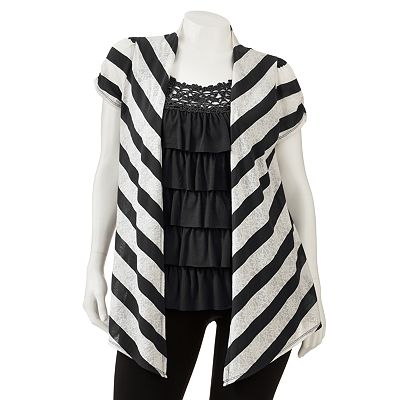 HeartSoul Tiered Mock-Layer Top - Juniors' Plus