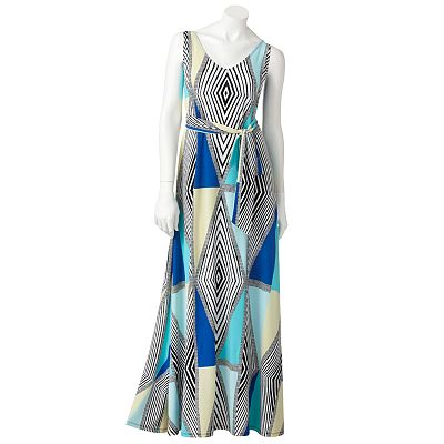Jennifer Lopez Geometric Maxi Dress