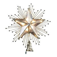 Kurt Adler Capiz Star Pre-Lit Tree Topper