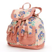 Mudd Kenny Floral Canvas Backpack