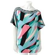 Jennifer Lopez Kaleidoscope Dolman Top