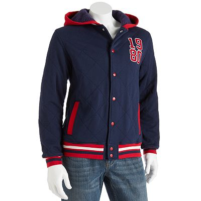Generra Quilted Hooded Varsity Jacket - Men