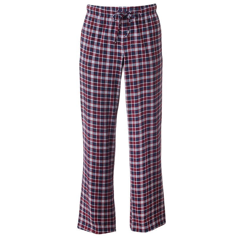 Croft & Barrow Plaid Lounge Pants - Men (Red)