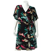 Jennifer Lopez Floral Surplice Dress - Women's Plus