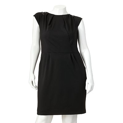 Jennifer Lopez Ponte Sheath Dress - Women's Plus