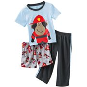 Carter's Fireman Monkey Pajama Set - Toddler