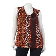 Dana Buchman Animal Drapeneck Top - Women's Plus