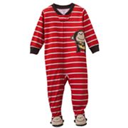 Carter's Striped Monkey Footed Pajamas - Toddler