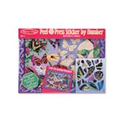 Melissa and Doug Butterfly Garden Peel and Press Sticker by Numbers