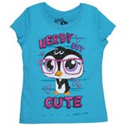 Nerdy Penguin Tee - Girls 4-6x