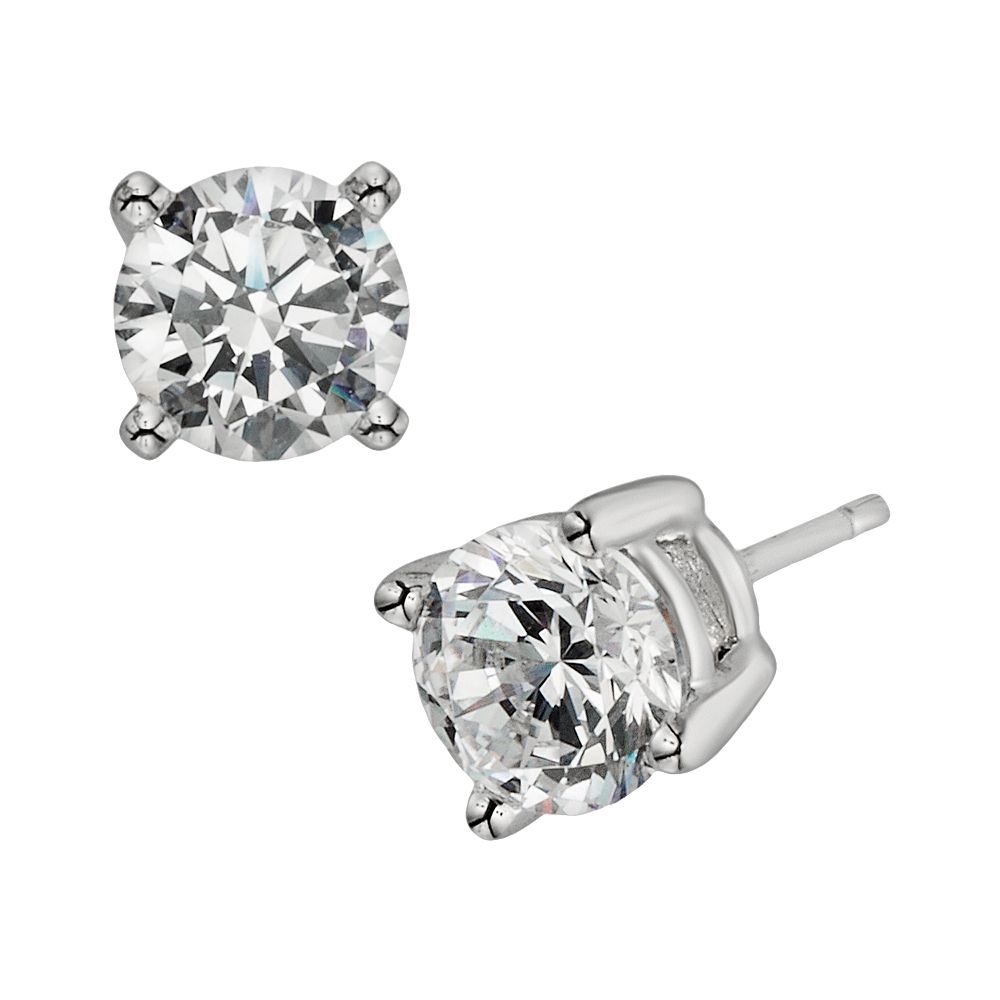 Diamonore Sterling Silver 2-ct. T.W. Simulated Diamond Stud Earrings